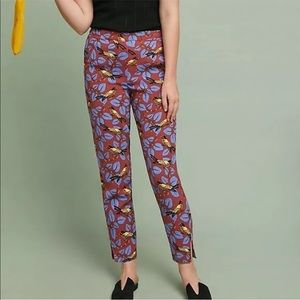 Anthropologie pull on trouser print pant xs
